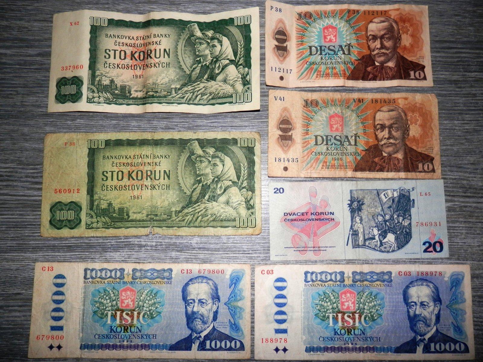 Ceskoslovenske peniaze - bazr