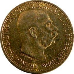 František Josef I., 10 Korun 1909 – 1912 (typ Schwartz)