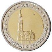 Oběžné pamětní mince 2 € – 2008