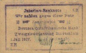 Afrika východní německá – bankovky