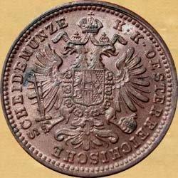 FR. JOS. I. - 1 KREJCAR 1885-1