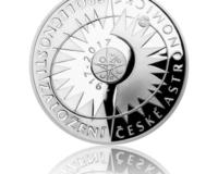 Stříbrná mince a zlatá medaile k výročí vzniku České astronomické společnosti