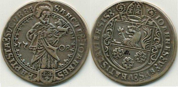 Ukradená mince – Guldiner vratislavského arcibiskupa Jana V. Thurza