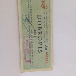 Darex dobropis na 1 Kčs 1952