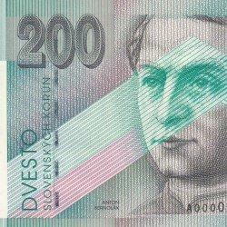 Bankovka 200 Sk slovenskej korunovej meny UNC