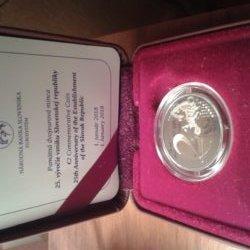 Predám pamätnú mincu 2 euro - 25. výročie vzniku Slovenskej republiky-PROOF
