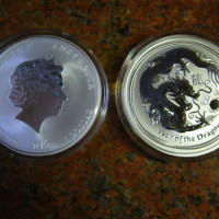 Investiční stříbrná mince 1 oz, Rok draka 2012 Lunární série