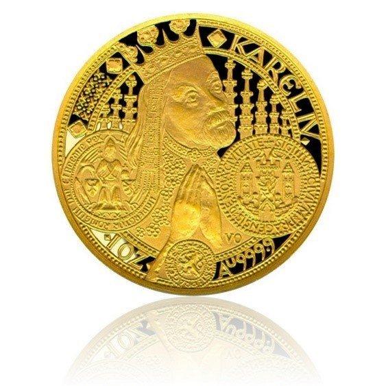 5df9ca96c Další ocenění World Coin získala česká mince roku 2001 za 10.000 Kč minci s  motivem Karla IV. za nejlepší zlatou minci, která byla vyražena v České  mincovně ...