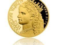 Jedinečnou krásu císařovny Sissi připomíná nová zlatá mince